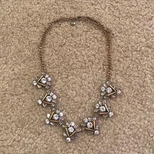 Jcrew factory gold statement necklace